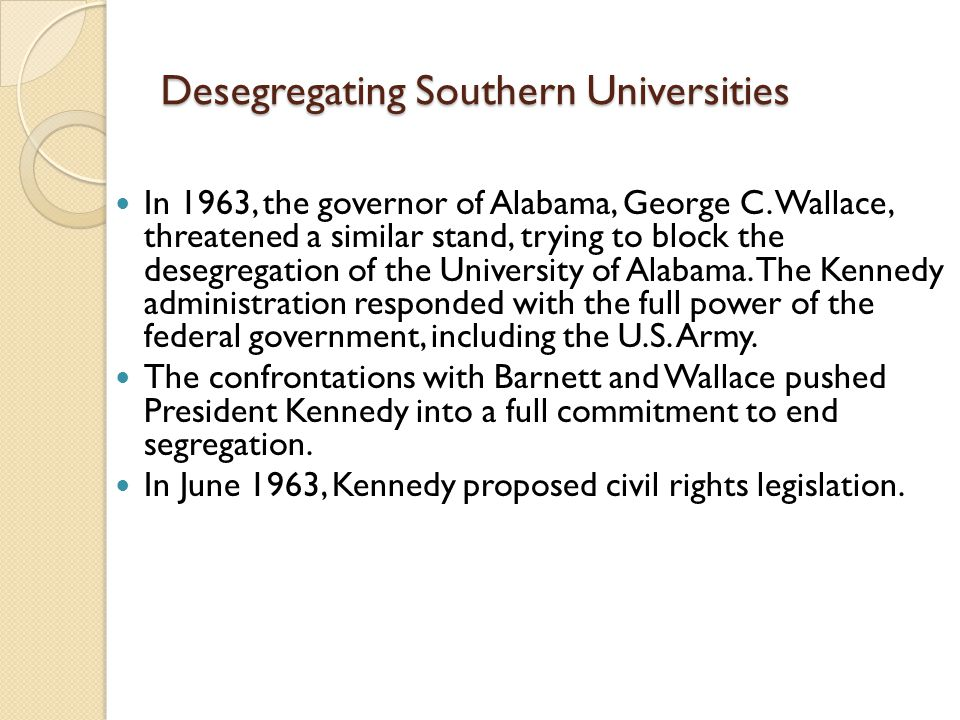 Desegregating Southern Universities