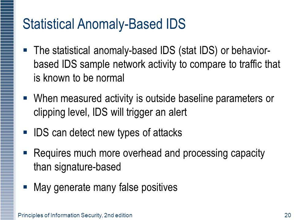 Statistical Anomaly-Based IDS