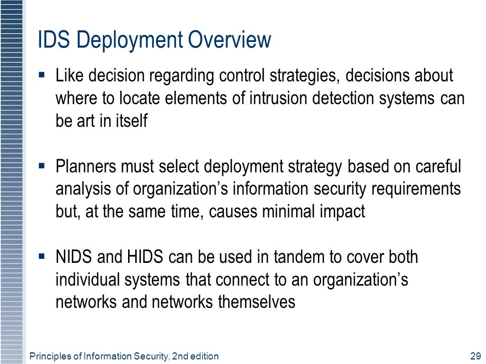 IDS Deployment Overview