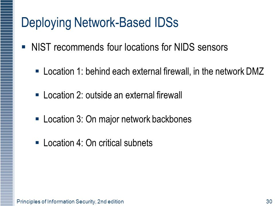 Deploying Network-Based IDSs