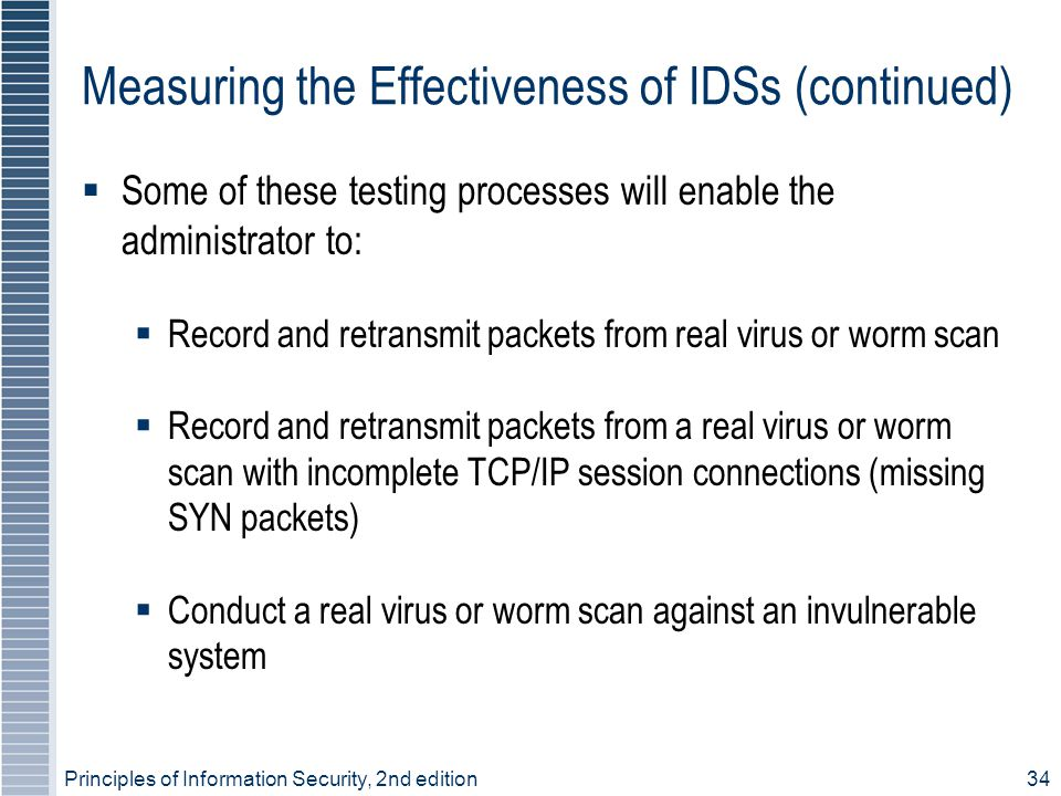 Measuring the Effectiveness of IDSs (continued)