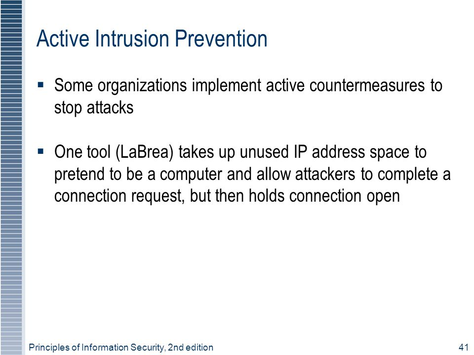 Active Intrusion Prevention