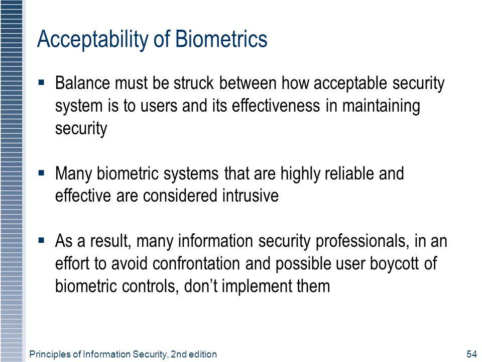 Acceptability of Biometrics