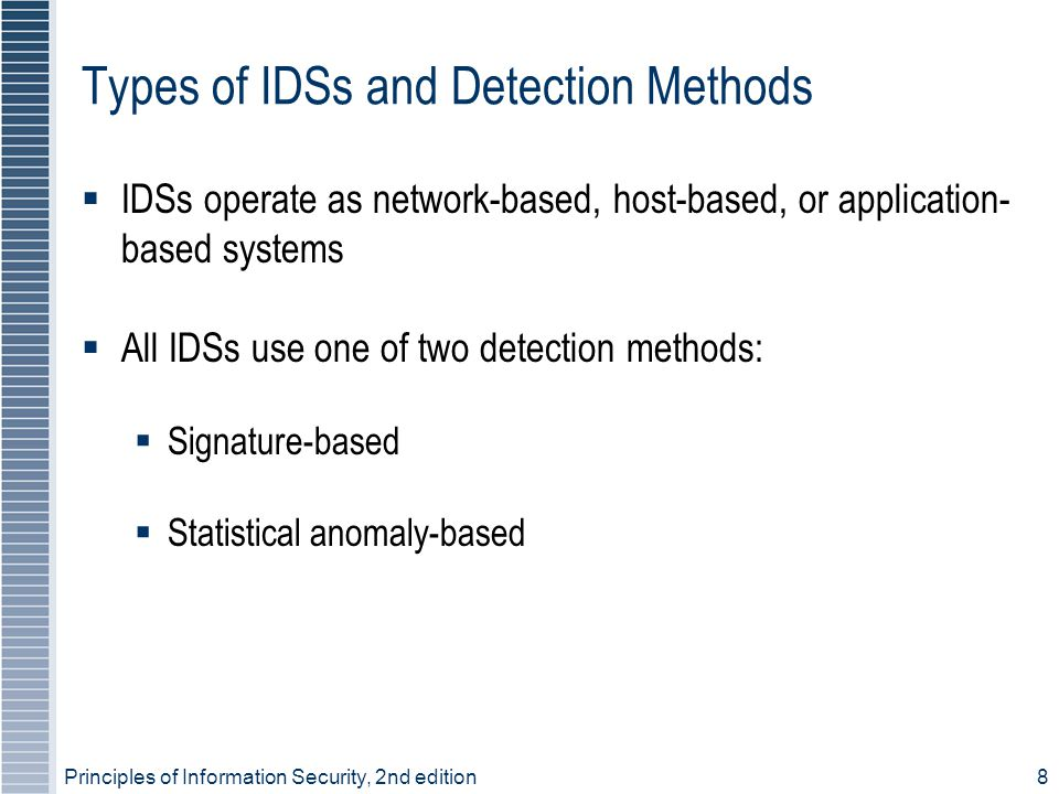 Types of IDSs and Detection Methods