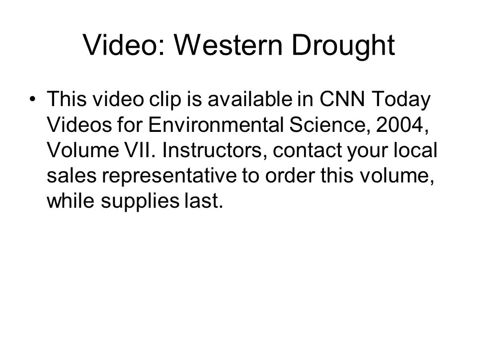 Video: Western Drought