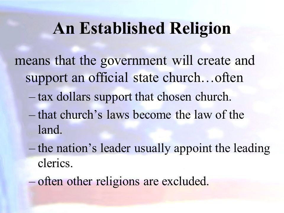 An Established Religion