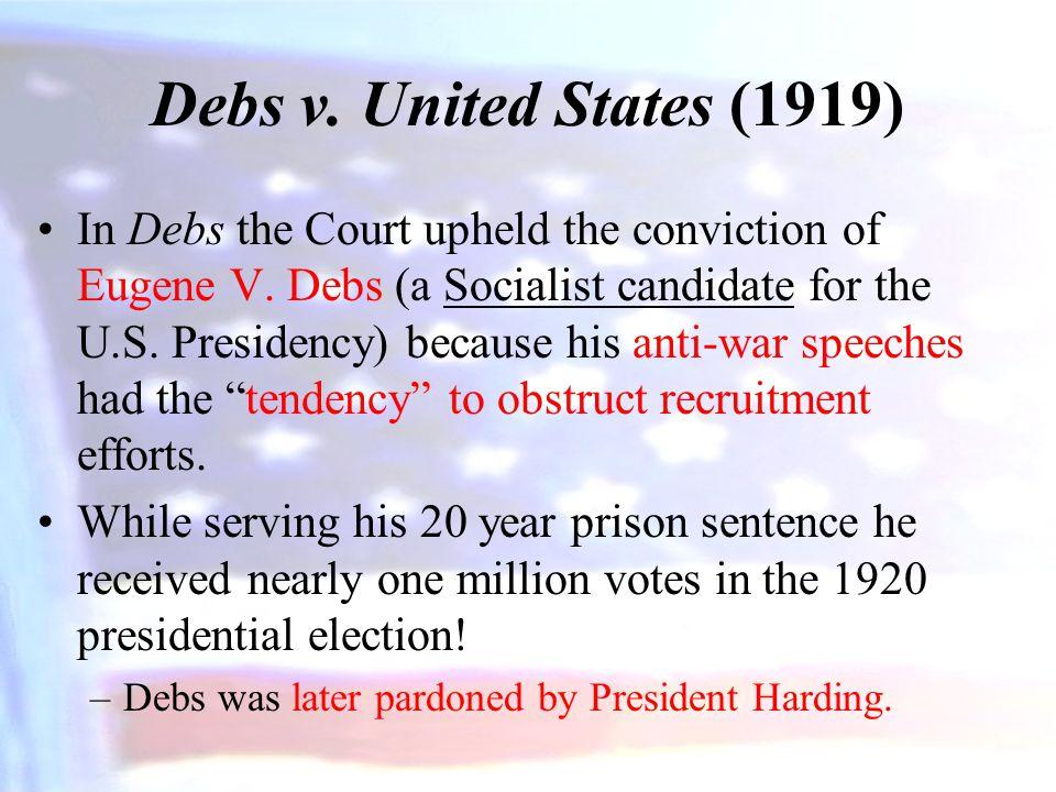 Debs v. United States (1919)