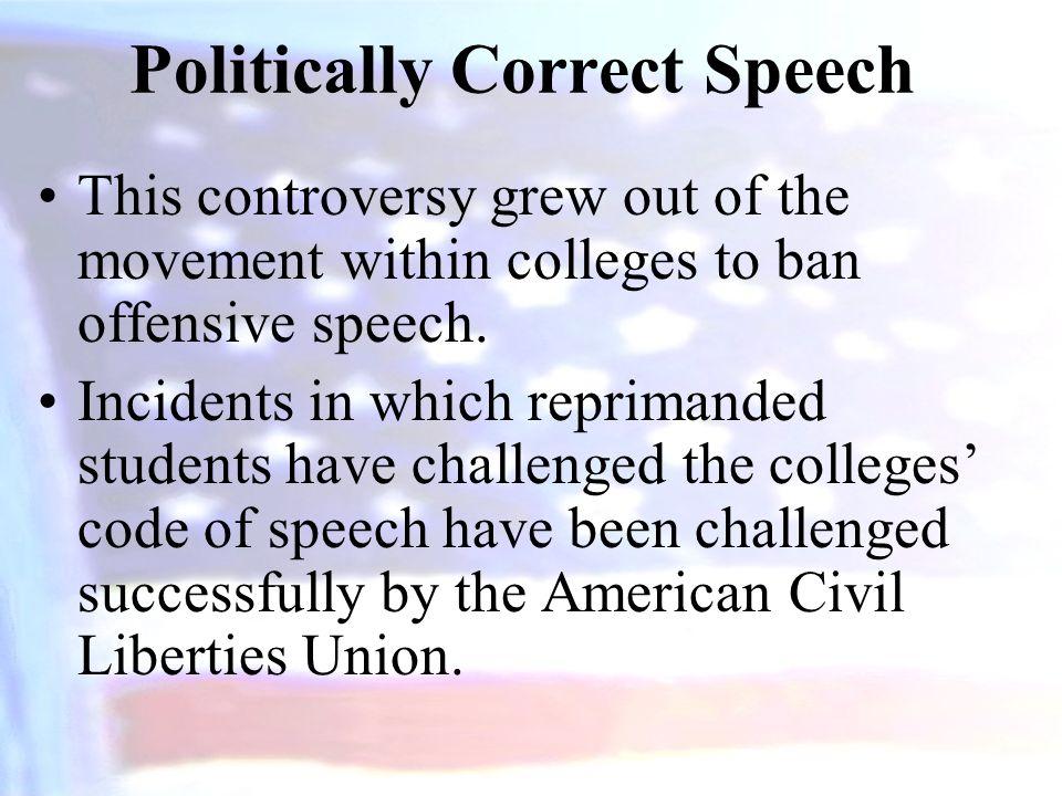Politically Correct Speech