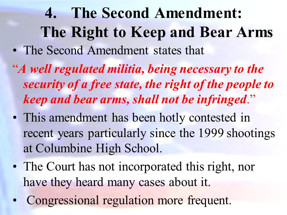 The Second Amendment: The Right to Keep and Bear Arms