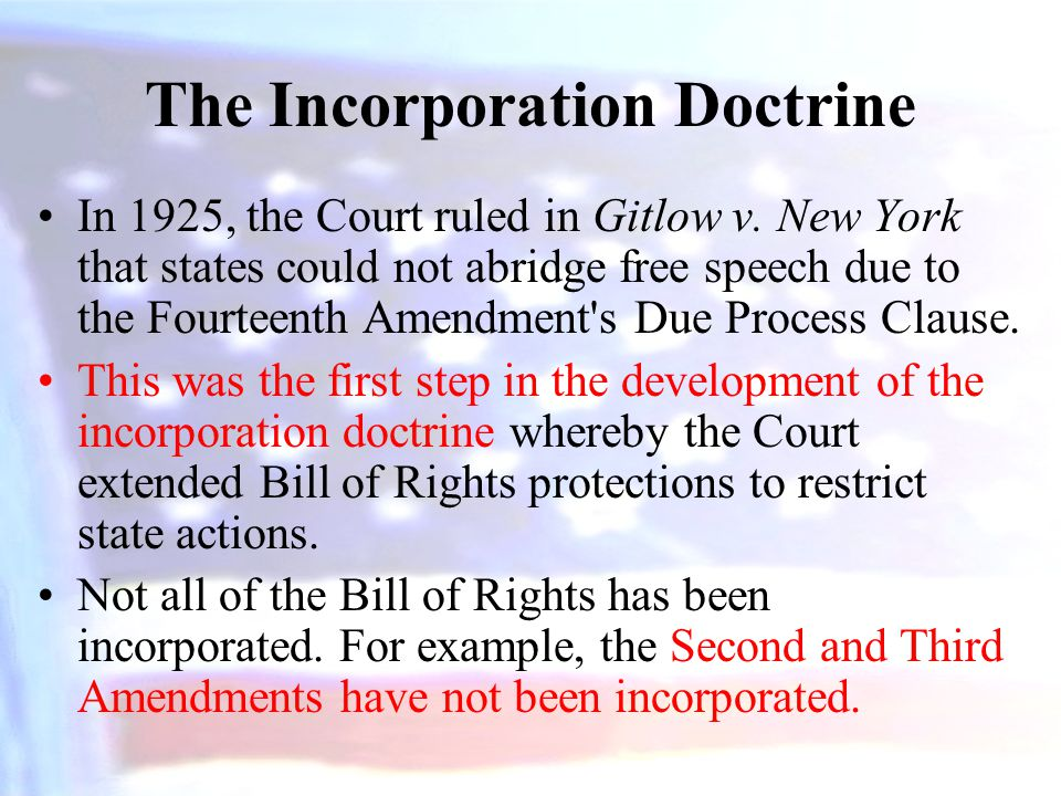 The Incorporation Doctrine