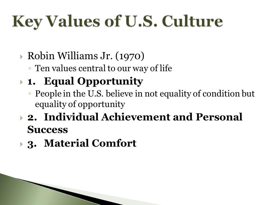Key Values of U.S. Culture
