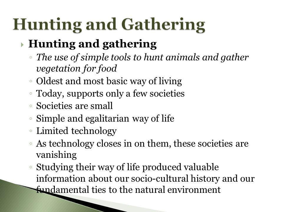 Hunting and Gathering Hunting and gathering