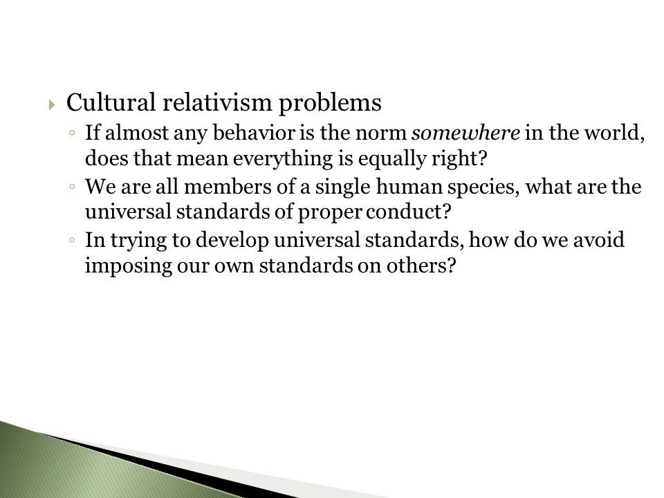 Cultural relativism problems