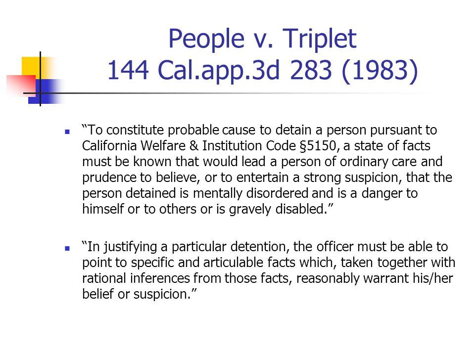 People v. Triplet 144 Cal.app.3d 283 (1983)