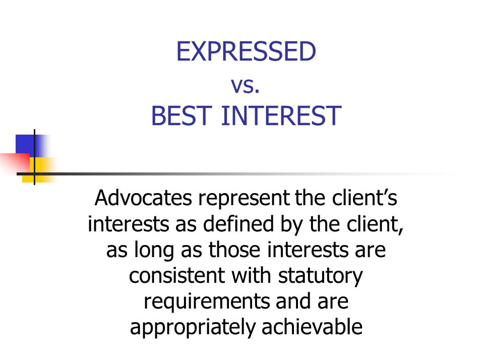 EXPRESSED vs. BEST INTEREST