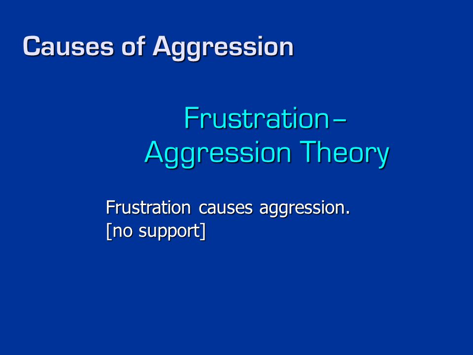Frustration– Aggression Theory