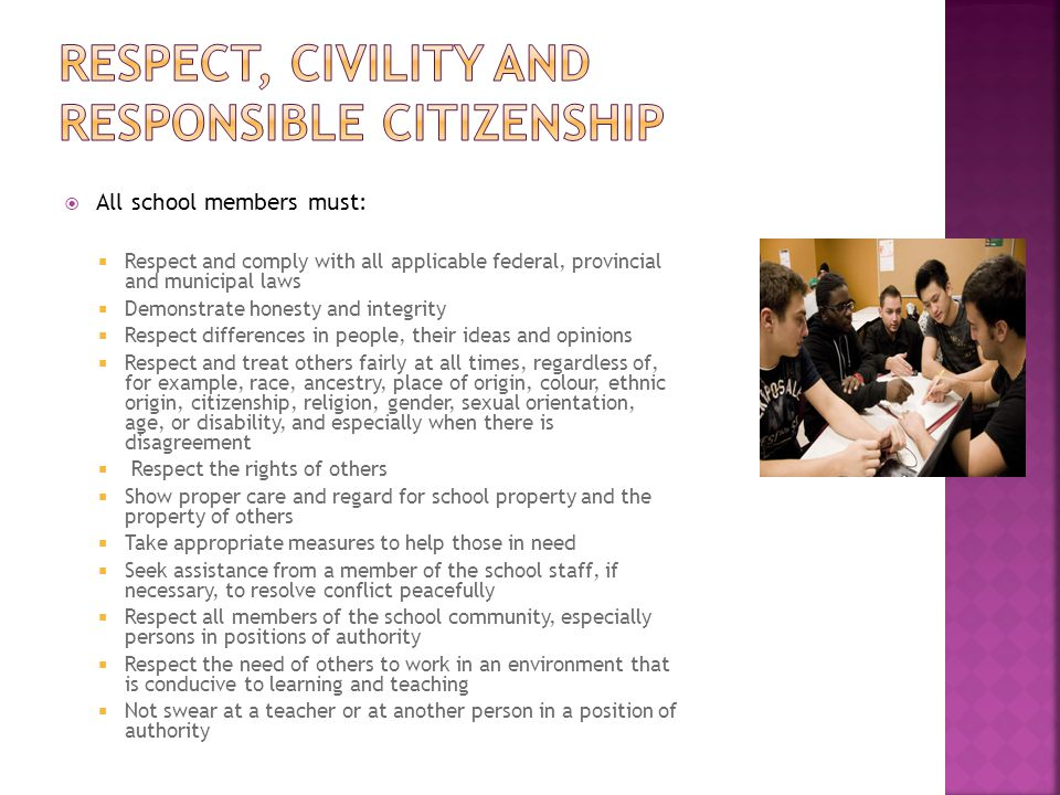 Respect, Civility and Responsible Citizenship