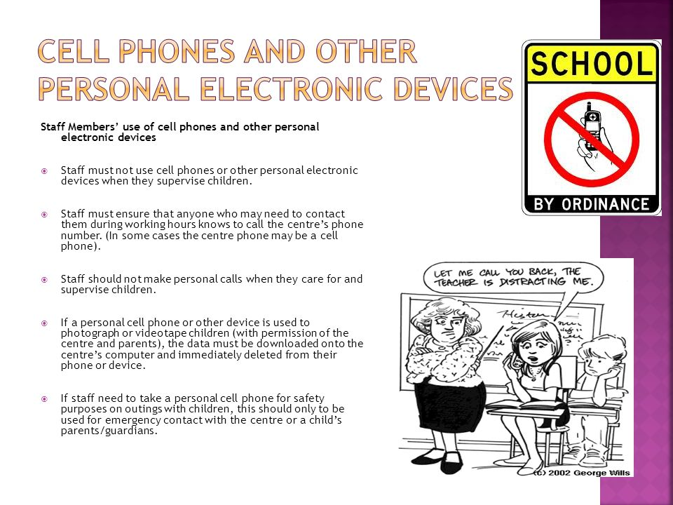 cell phones and other personal electronic devices