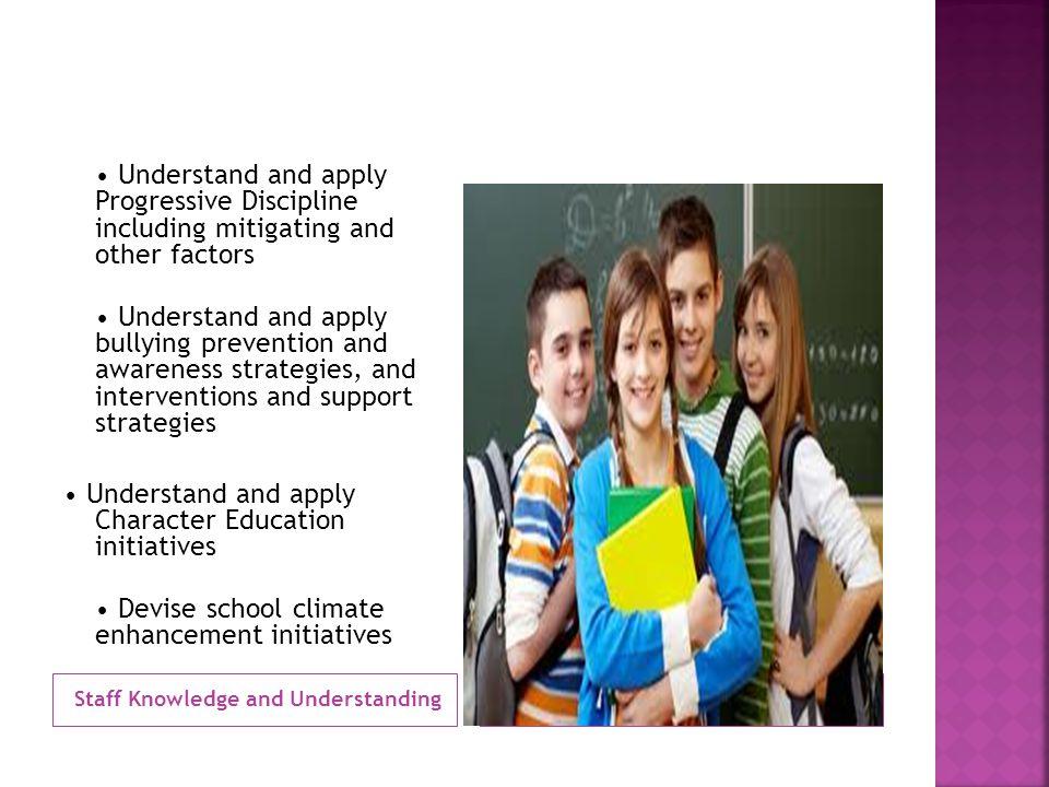 Staff Knowledge and Understanding