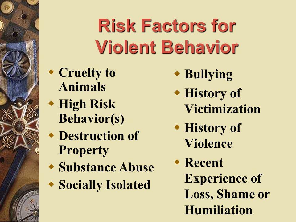 Risk Factors for Violent Behavior