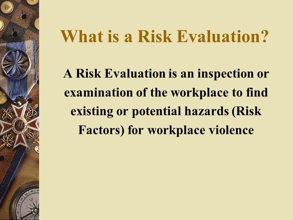 What is a Risk Evaluation