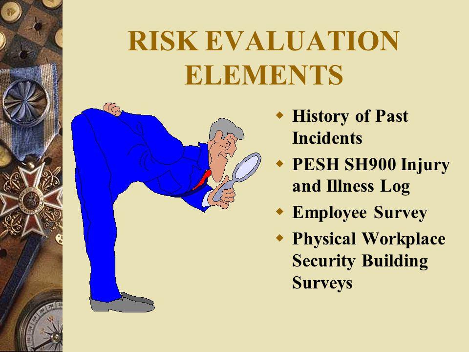 RISK EVALUATION ELEMENTS