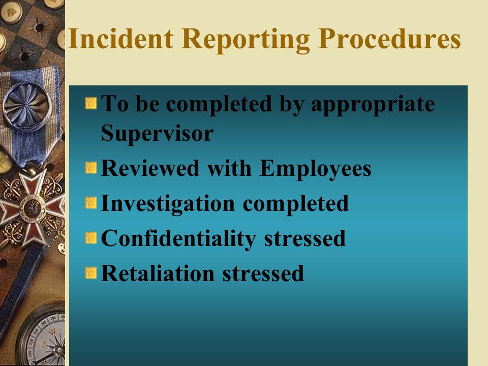 Incident Reporting Procedures