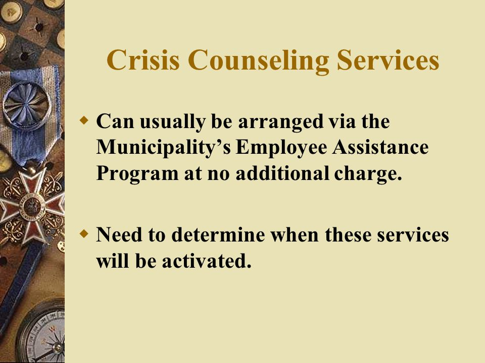 Crisis Counseling Services