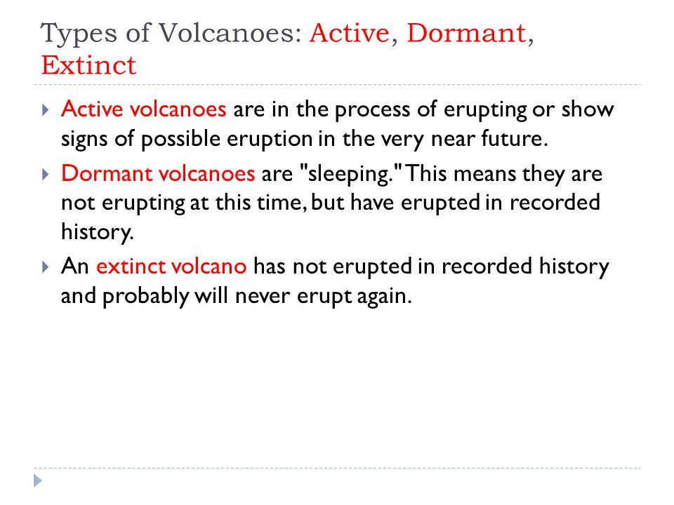 Types of Volcanoes: Active, Dormant, Extinct