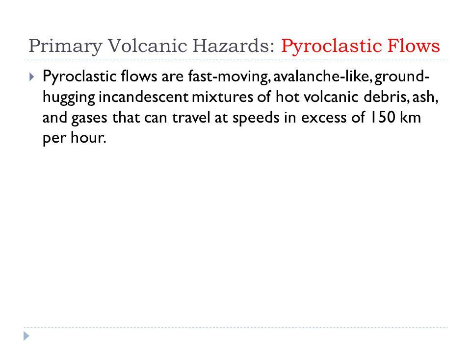Primary Volcanic Hazards: Pyroclastic Flows