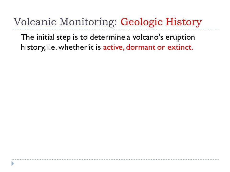 Volcanic Monitoring: Geologic History