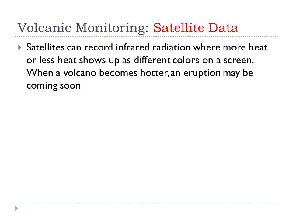 Volcanic Monitoring: Satellite Data