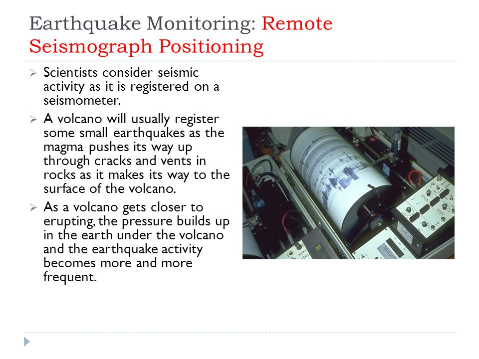 Earthquake Monitoring: Remote Seismograph Positioning