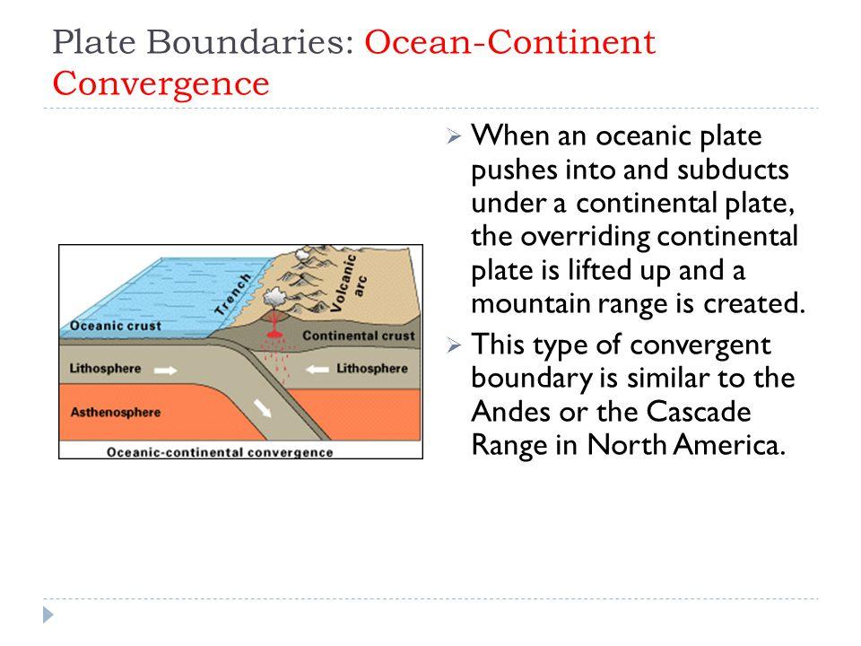 Plate Boundaries: Ocean-Continent Convergence