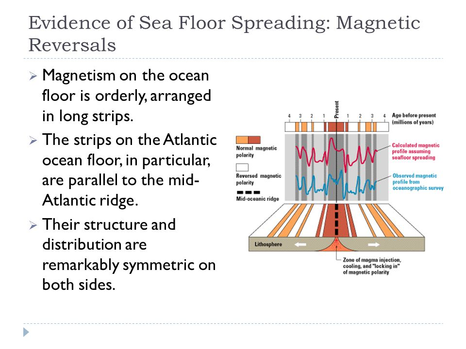 Evidence of Sea Floor Spreading: Magnetic Reversals