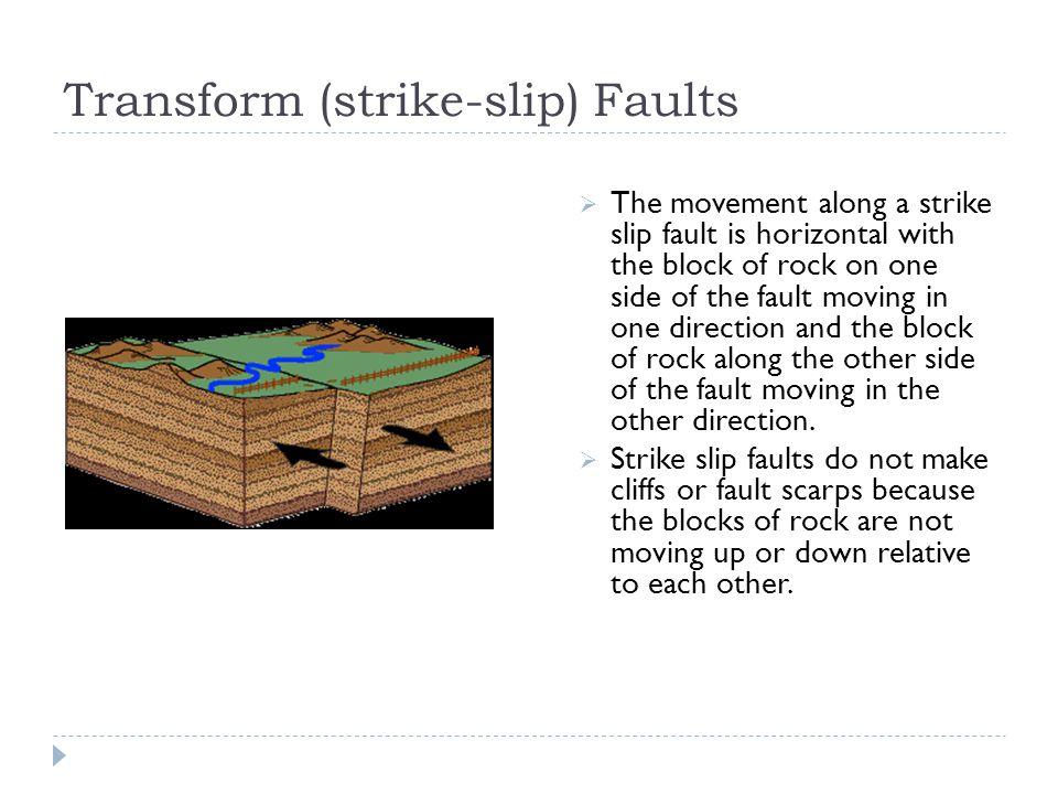 Transform (strike-slip) Faults