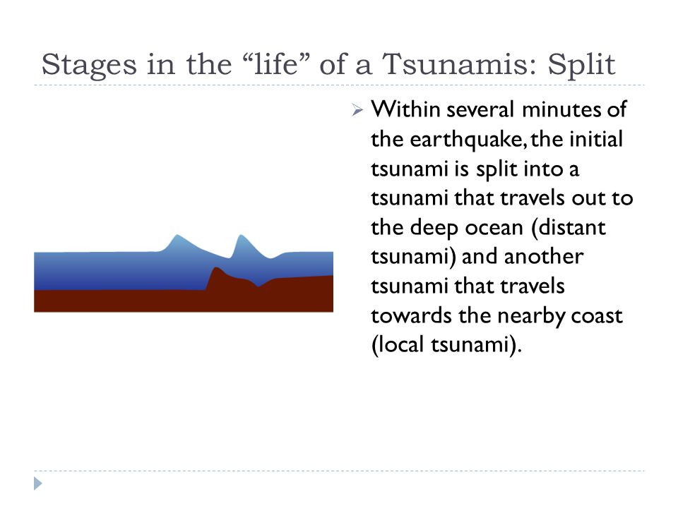 Stages in the life of a Tsunamis: Split