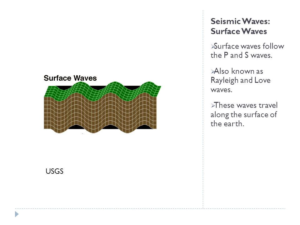Seismic Waves: Surface Waves