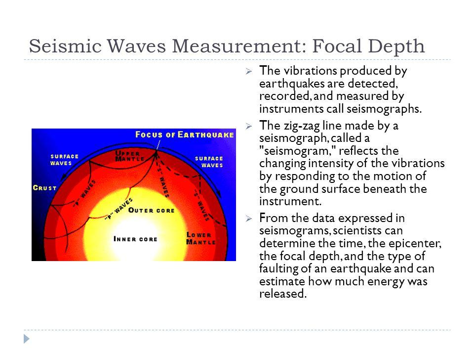 Seismic Waves Measurement: Focal Depth