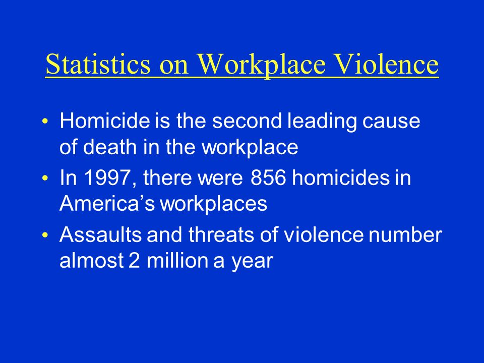 Statistics on Workplace Violence