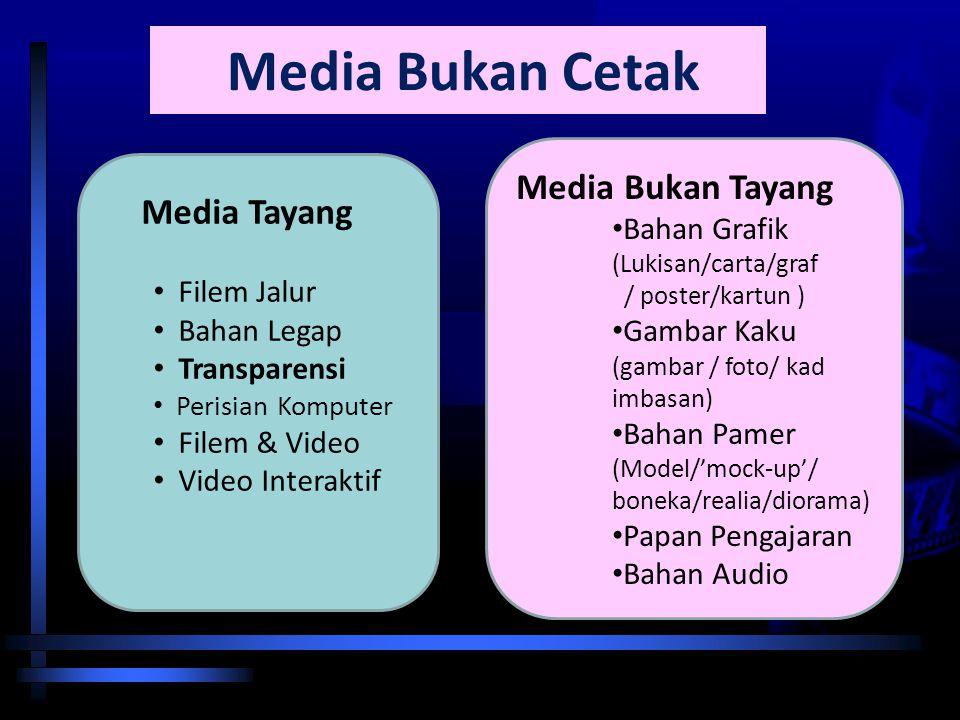 Media Bukan Cetak Media Bukan Tayang Media Tayang