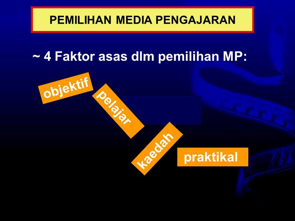 PEMILIHAN MEDIA PENGAJARAN
