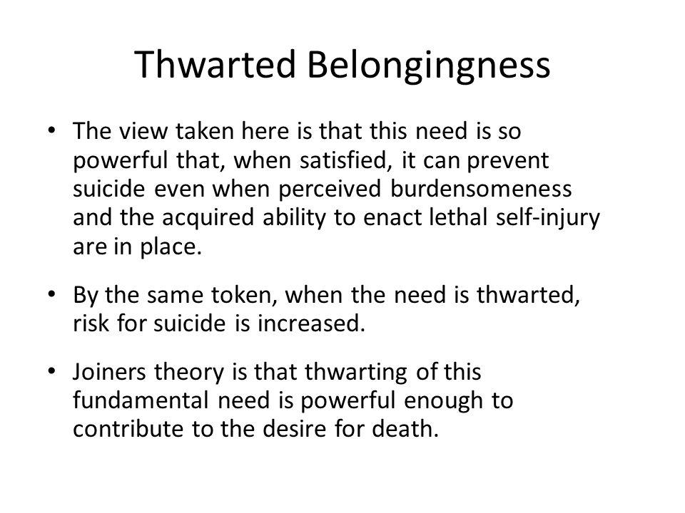 Thwarted Belongingness