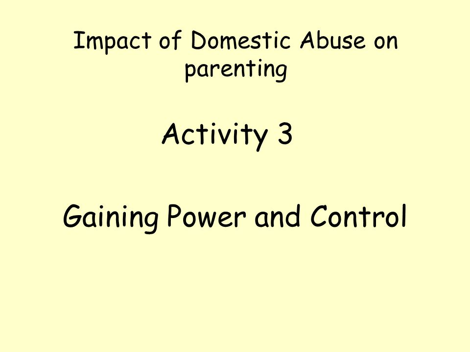 Impact of Domestic Abuse on parenting
