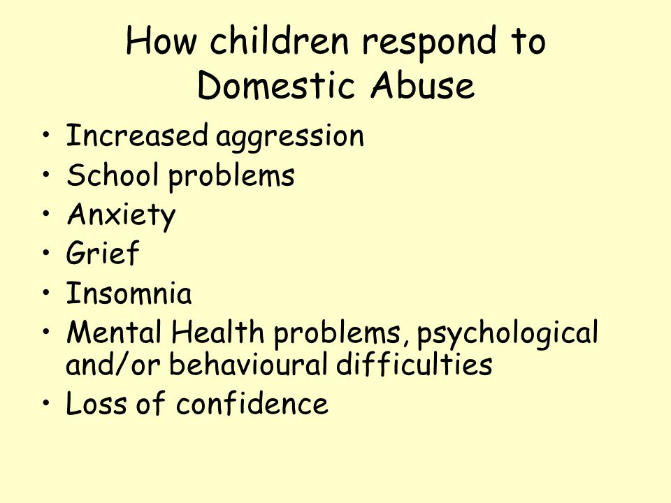 How children respond to Domestic Abuse