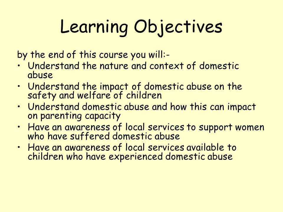 Learning Objectives by the end of this course you will:-