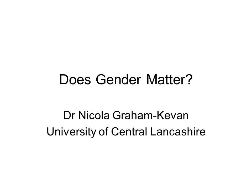 Dr Nicola Graham-Kevan University of Central Lancashire