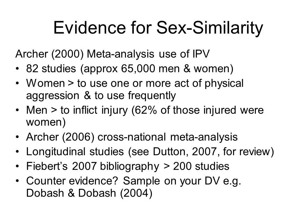 Evidence for Sex-Similarity