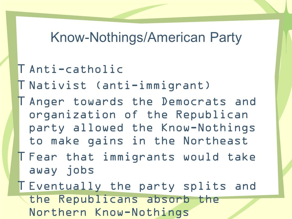 Know-Nothings/American Party