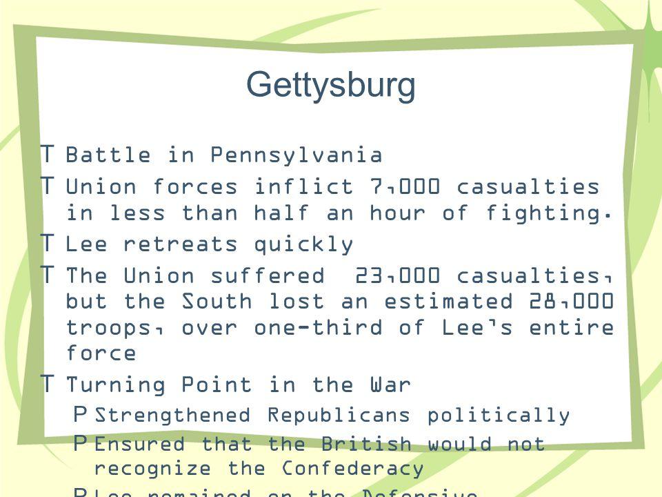 Gettysburg Battle in Pennsylvania